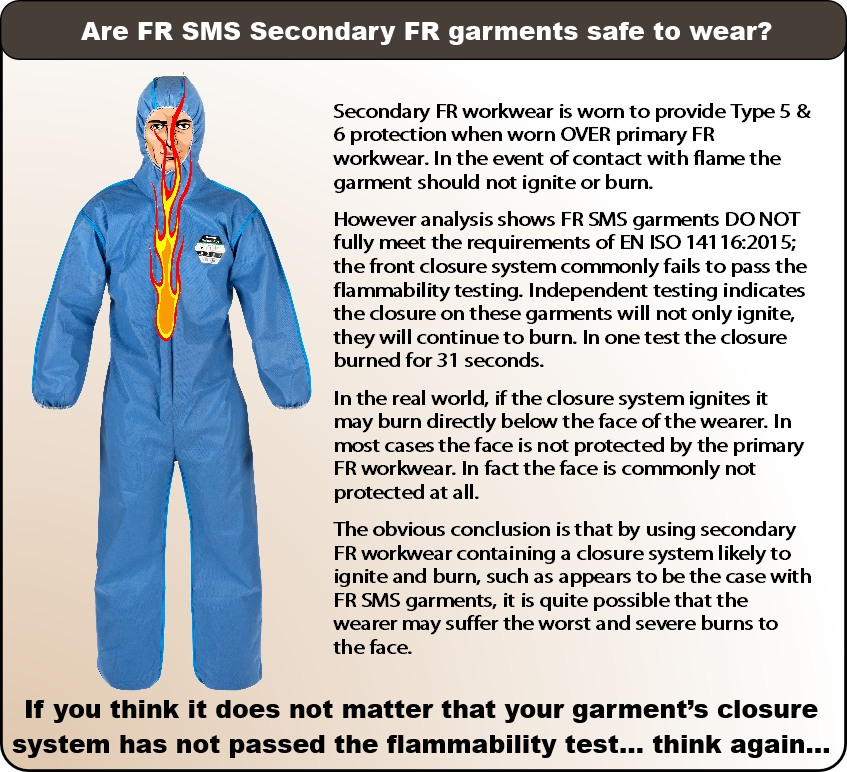 are FR SMS garments safe-3
